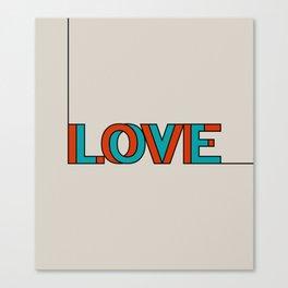 .LOVE. Canvas Print
