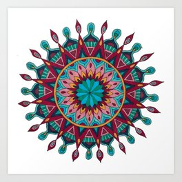 Heart and Soul Mandala Art Print
