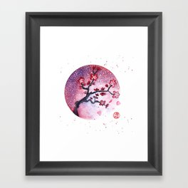 Sakura moon Framed Art Print