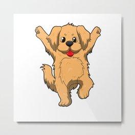 Jubilation Dog Dance Emote Funny Gift Metal Print