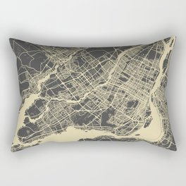 Montreal Map Rectangular Pillow