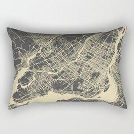 Montreal Map yellow Rectangular Pillow