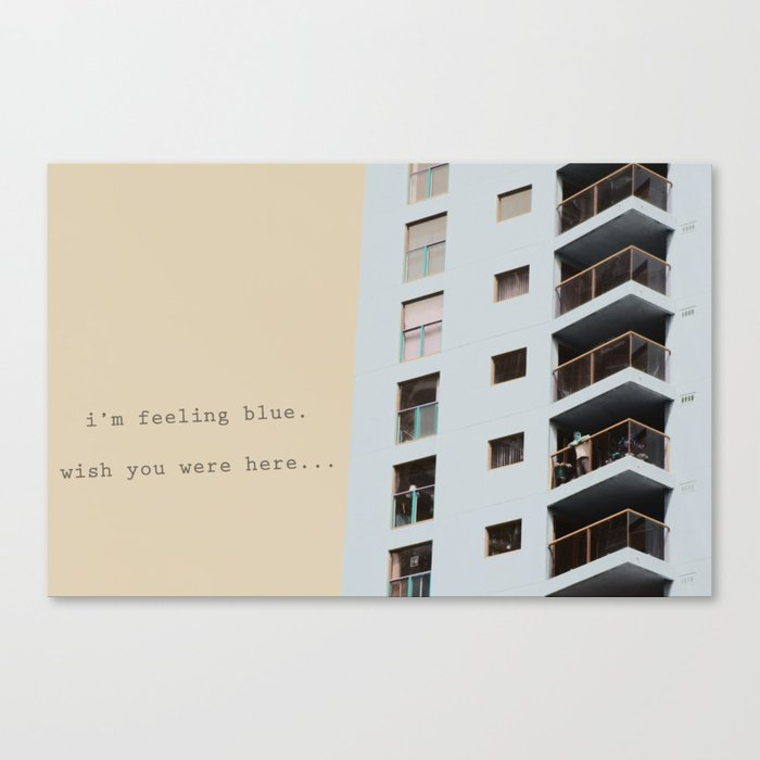 postcard from a tower block... Canvas Print