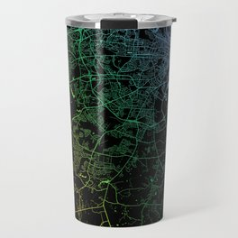 Augusta, GA, USA, City, Map, Rainbow, Map, Art, Print Travel Mug