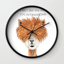 Introvert llama Wall Clock