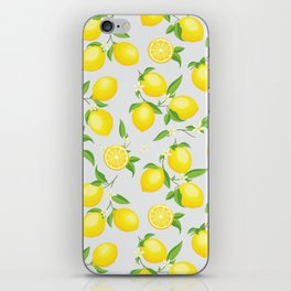 You're the Zest - Lemons on White iPhone Skin