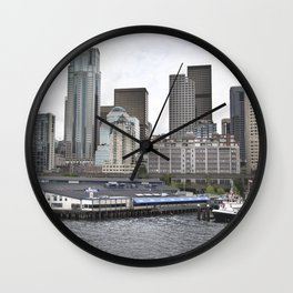 Central Waterfront Seattle Wall Clock