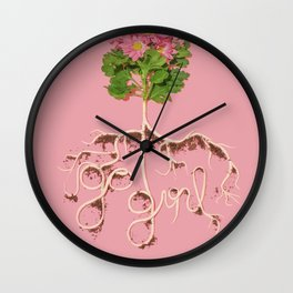 Rooting For You Wall Clock