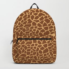 Dark Giraffe Animal Pattern Backpack