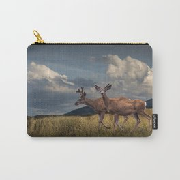 Mule Deer with Velvet Antlers in the Bighorn Mountains Carry-All Pouch