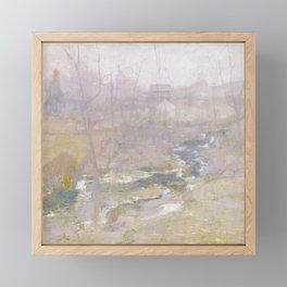 Misty Creek Painting Framed Mini Art Print