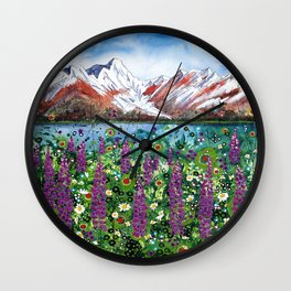 Carpathian in Lupine Wall Clock