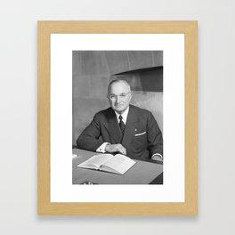 Harry S. Truman - Photo Portrait Framed Art Print