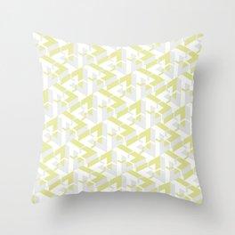 Triangle Optical Illusion Lemon Light Throw Pillow