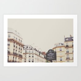 Place Sartre Beauvoir Art Print