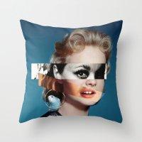 goddess Throw Pillows featuring Goddess by Alba Blázquez
