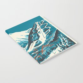 Stowe, Vermont Vintage Ski Poster Notebook