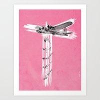 bombs away Art Prints featuring Bombs Away! by victor calahan