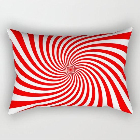 Swirl (Red/White) Rectangular Pillow