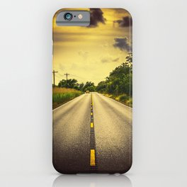 Louisiana Highway 82, an ample opportunity to see gators crossing the road iPhone Case