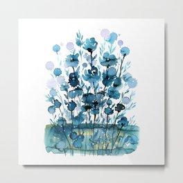 Floral Charm No.1L by Kathy Morton Stanion Metal Print