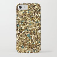 gold glitter iPhone & iPod Cases featuring Gold Glitter by Katieb1013