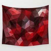 pomegranate Wall Tapestries featuring Pomegranate by Veronika