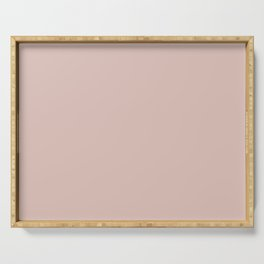 Dunn and Edwards 2019 Curated Colors Travelling Tan (Pale Pastel Pink) DE6080 Solid Color Serving Tray