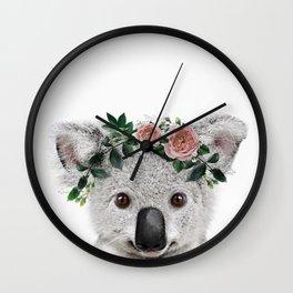 Koala Print Wall Clock