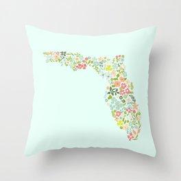 Florida Florals Throw Pillow