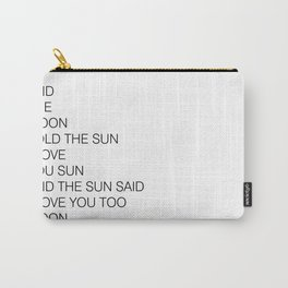 THE MOON AND THE SUN Carry-All Pouch
