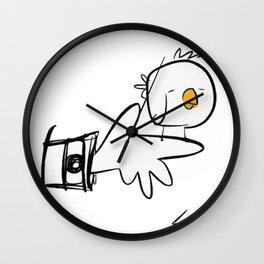 Bird on a Finger ©SABET Wall Clock