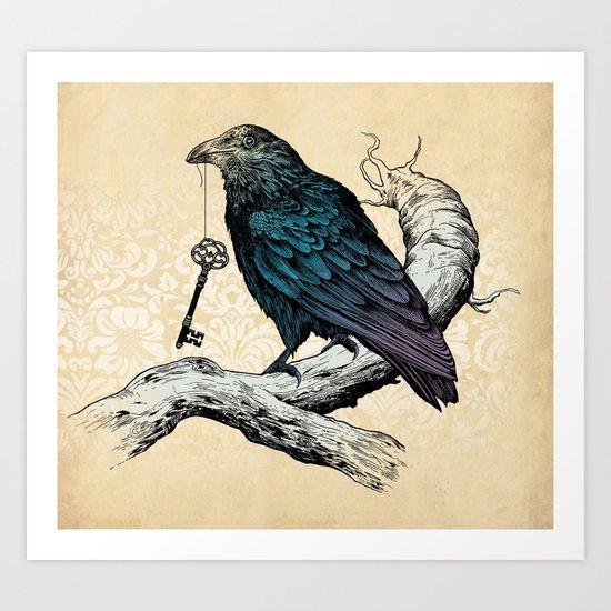 Raven's Key Art Print