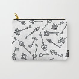 Skeleton Keys Grey Carry-All Pouch