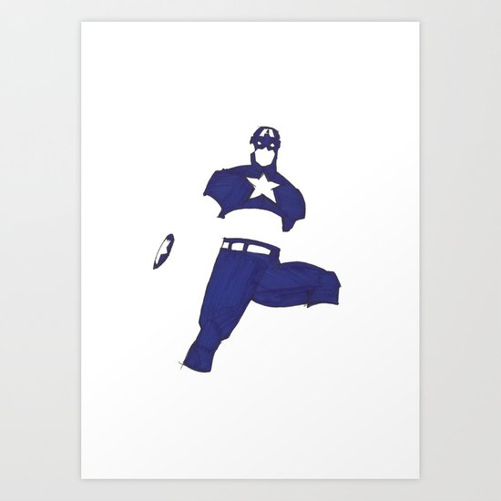 Hello Captain. Art Print