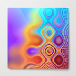 Dots in Motion (warm sunset) Metal Print