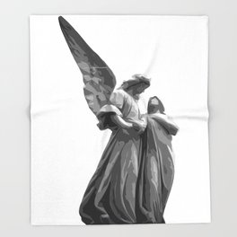 Angel Statue Throw Blanket