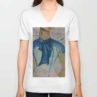 vogue V-neck T-shirts featuring Vogue by Taylor Starnes
