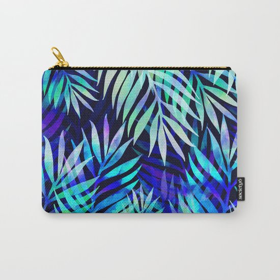 Watercolor palm pattern Carry-All Pouch