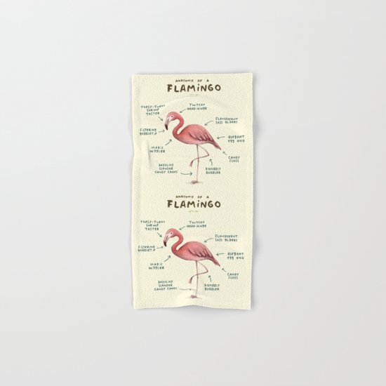 Anatomy of a Flamingo Hand & Bath Towel