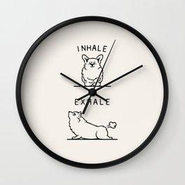 Inhale Exhale Corgi Wall Clock