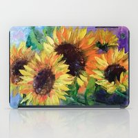 sunflowers iPad Cases featuring Sunflowers by OLHADARCHUK