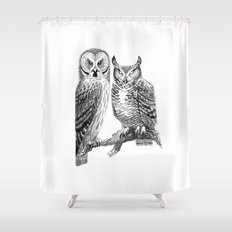 Bubo and Strix Shower Curtain