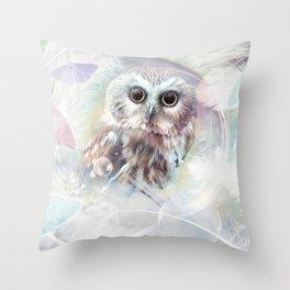 Chouette douceur Throw Pillow