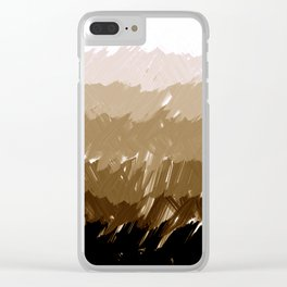 Shades of Sepia Clear iPhone Case