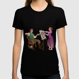 Tangled - Rapunzel Short Brown Hair and Flynn Rider T-shirt