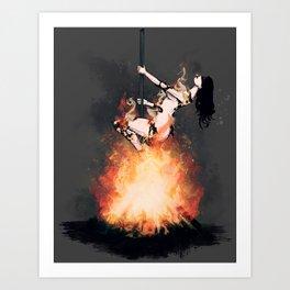 Burned at the Stake Art Print
