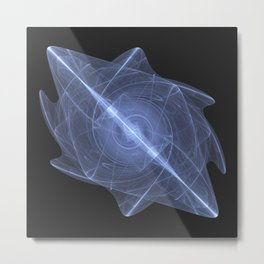 Sacred Energy Crystal of the Throat Chakra Metal Print