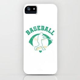 Baseball Pitcher Softball Players Baseball Batter Hitters Baseballer Gift iPhone Case