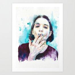 25th frame of my mind (Brian Molko) Art Print